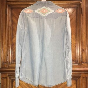 Vintage Ralph Lauren Denim Shirt with Beadwork